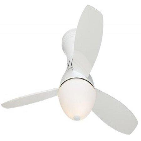 Possini Euro Design 52 Encore174 White Hugger Ceiling Fan