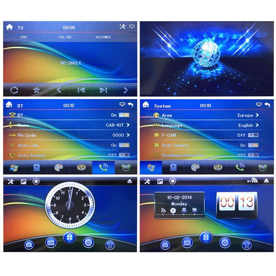 Jeobest In-Dash Double-Din DVD/VCD/RM/Bluetooth Receiver