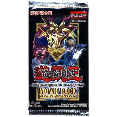 Yugioh Dark Side Of Dimensions Movie Pack Gold Edition Booster Pack