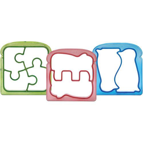 Munchkin Silly Sandwich Cutters, 3-Pack, BPA-Free