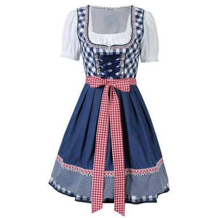 German Ladies Beer Maid Wench Costume Oktoberfest Bavarian Dirndl - Beer Maid Outfit