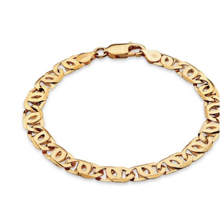 Men's Bird's-Eye Interlocking Link Bracelet in 14k Gold over Sterling Silver 8
