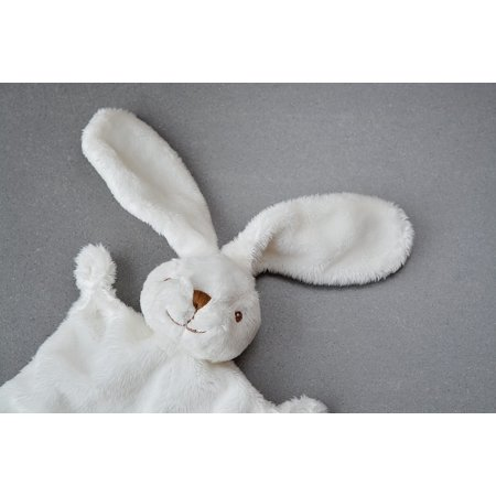LAMINATED POSTER Fabric Bunny Security Blanket Doudou Hare White Poster Print 24 x 36](Bunny Print)