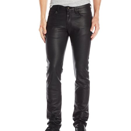 Naked & Famous NEW Black Mens 31X33 Waxed Skinny Guy Stretch