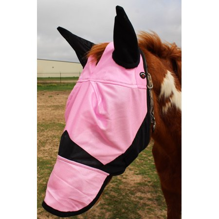 Draft Horse Fly Mask - Equine Horse Fly Mask Summer Spring Airflow Mesh UV Mosquitoes  73202N