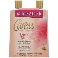 Caress Hydrating Body Wash Daily Silk 18 oz 2 Pack