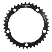Eclypse, Glide-Pro 130, 39T, 8-10sp, BCD: 130mm, 5 Bolt Inner Chainring, Alloy, Black