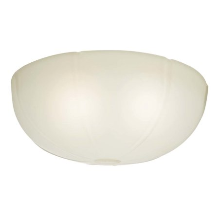 Casablanca 99061 Cased White Transitional Ribbed Glass Bowl for 99023