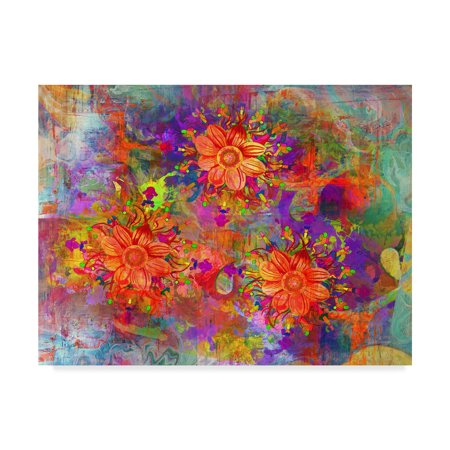 Trademark Fine Art Flowers Design A Canvas By Ata Alishahi