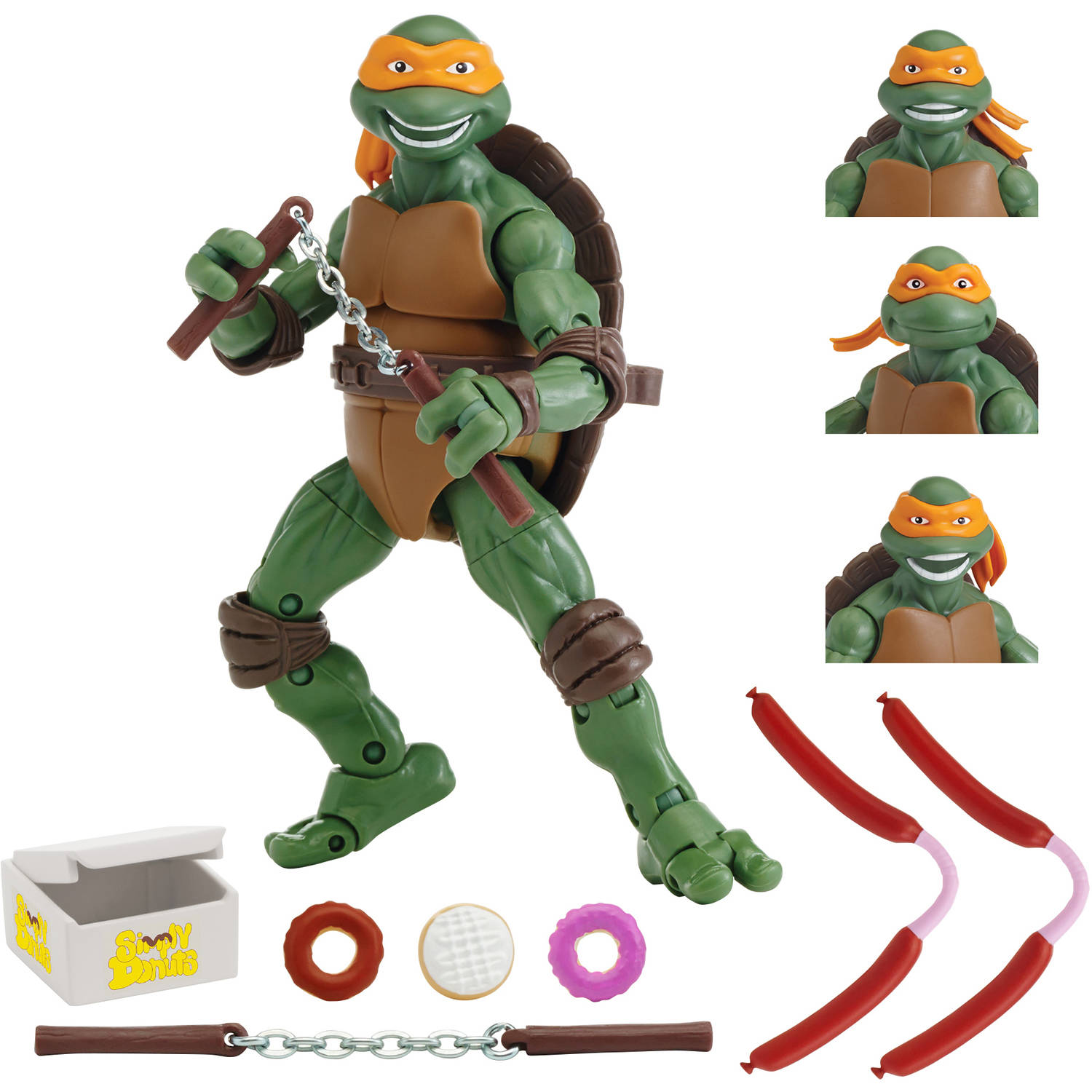 "Teenage Mutant Ninja Turtles 1990 Movie 6"" Michelangelo Figure"