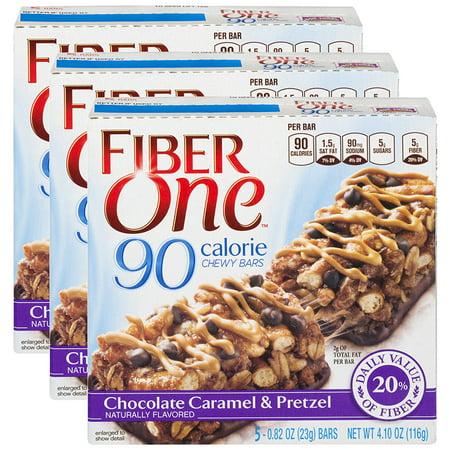"""Fiber Oneâ""""¢ 90 Calorie Bar Chocolate Caramel and Pretzel, 0.82 Oz, 5 Ct (Pack of 3)"""