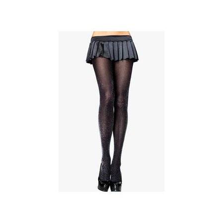 Silver Tights (Silver Lurex Opaque Tights Adult Halloween Accessory, One Size,)