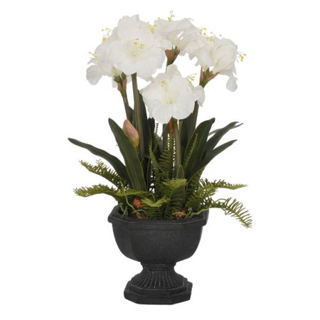 House of silk flowers inc artificial amaryllis in urn walmart house of silk flowers inc artificial amaryllis in urn mightylinksfo
