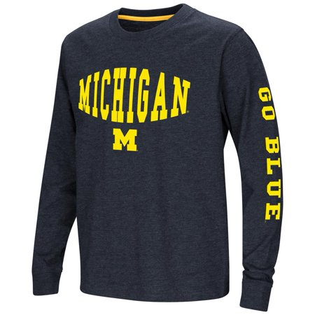 University of Michigan Wolverines Youth Long Sleeve Tee Spike L/S Tee