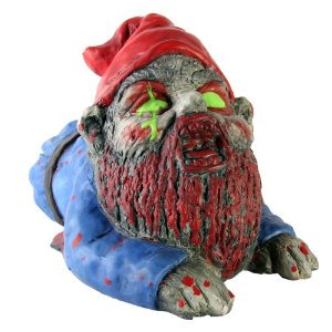 - Thumbs Up! Zombie Crawler Garden Gnome Multi-Colored