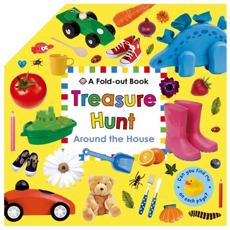 Treasure Hunt: Around the House : A Fold-Out Book - Treasure Hunt Halloween Clues
