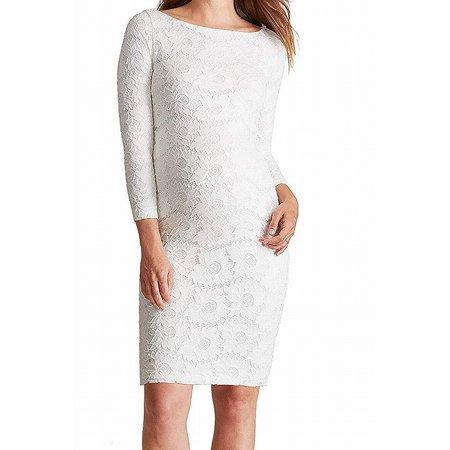 Womens Dress Floral Lace Maternity Sheath XS ()
