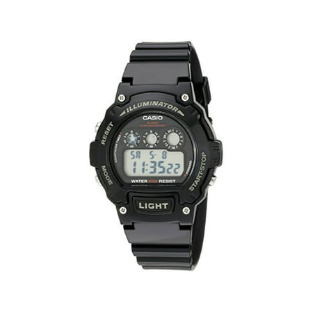 Kids W-214HC-1AVCF Classic Digital Display Quartz Black (Display Digital Watch)