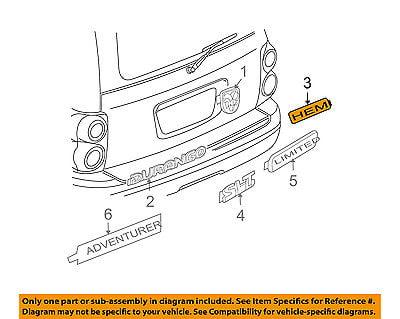 Chrysler Genuine 55364653AA Nameplate