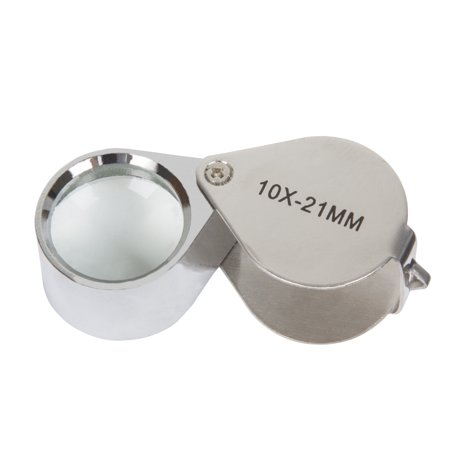 10x Jewelers Eye Loupe Magnifier with Case by Stalwart