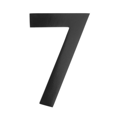 Architectural mailboxes 3585b 7 floating house number 7 black 5 in