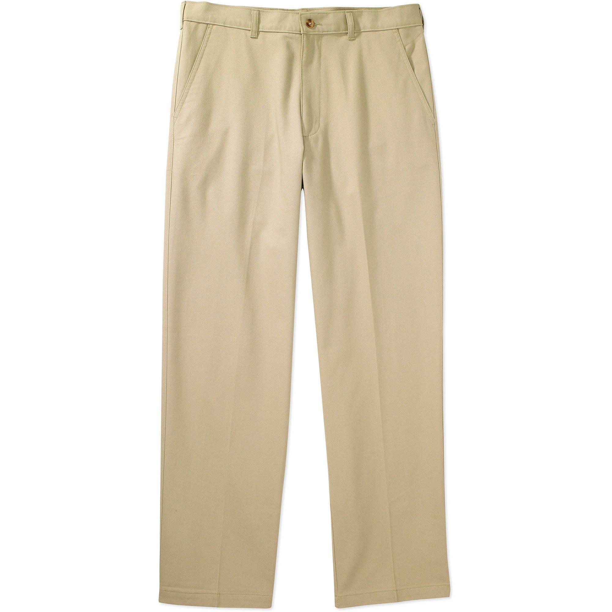 George Men's Flat-Front Wrinkle-Resistant Pants