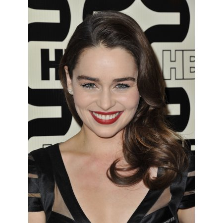 Emilia Clarke At Arrivals For Hbos Golden Globes After Party Circa At The Beverly Hilton Hotel Beverly Hills Ca January 13 2013 Photo By Dee Cerconeeverett Collection Photo Print