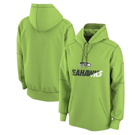 save off 11fef 07889 Seattle Seahawks Nike Wedge Performance Pullover Hoodie - Neon Green