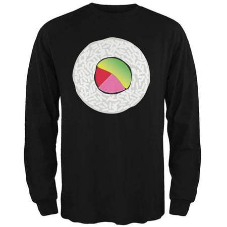 Halloween Sushi Costume 2 Black Adult Long Sleeve T-Shirt - Sushi For Halloween