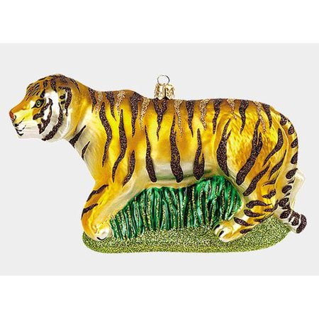 Pinnacle Peak Trading Co Pinnacle Peak Glass Tiger Wildlife Animal Christmas Ornament