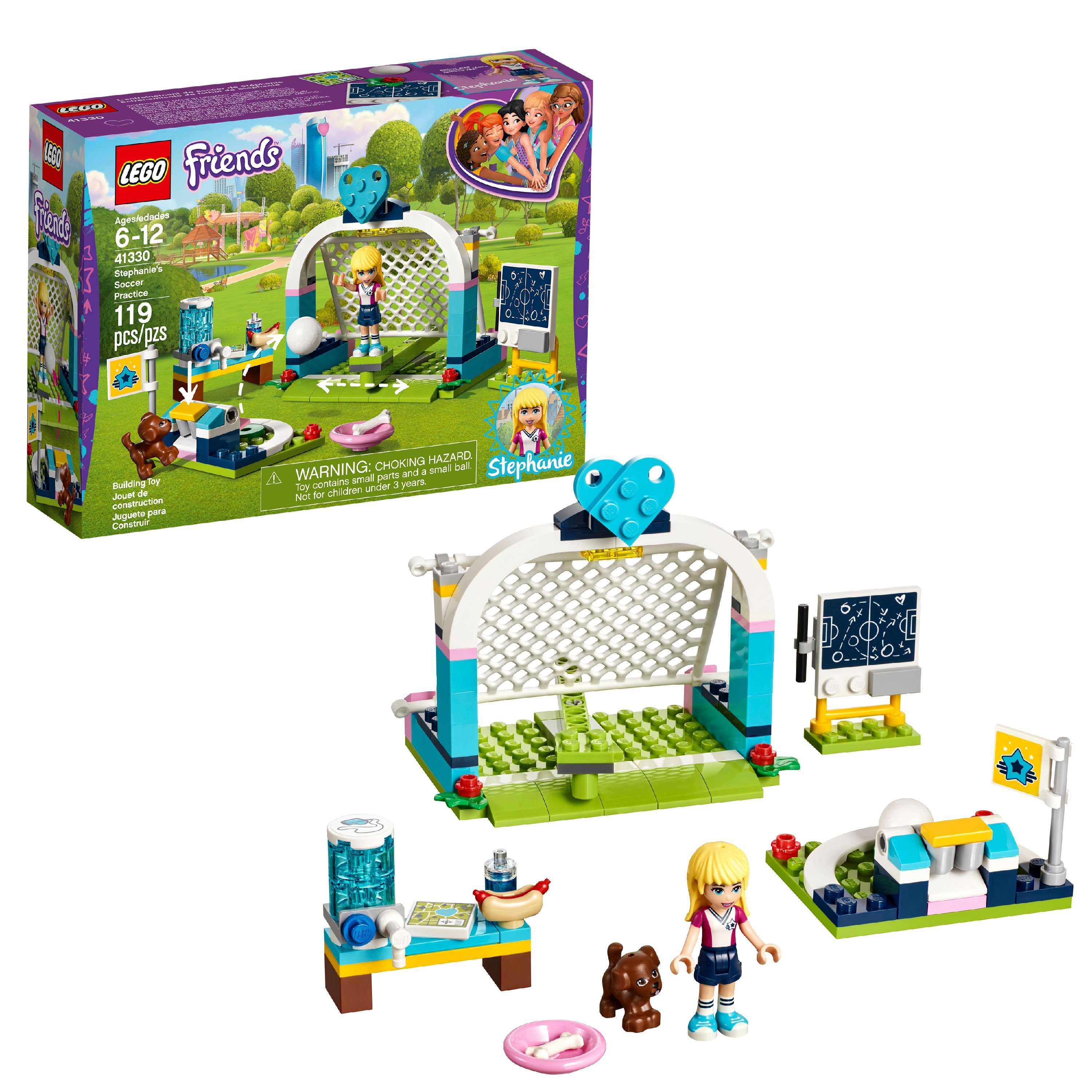 LEGO Friends Stephanie's Soccer Practice 41330 (119 Pieces)