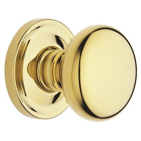 Baldwin 5015003PRIV Estate Classic Knob, Polished Brass