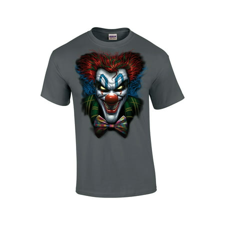 Clown Dark T-shirt (Psycho Clown With A Bowtie T-Shirt )