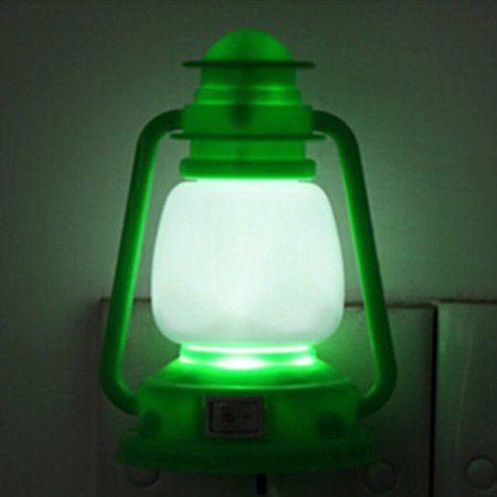 Decoration Vintage Lamp Lantern LED Night Night Light Color Changing Color:Green
