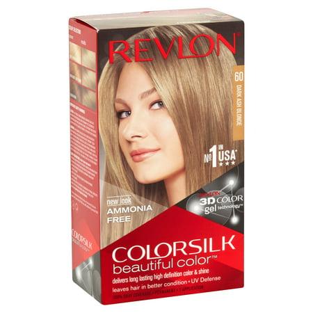 Revlon ColorSilk Beautiful Color 60 Dark Ash Blonde Hair Color, 1 ...