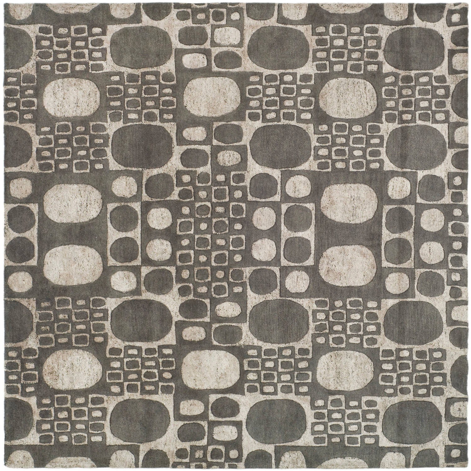 Safavieh Soho Gabi Wool Square Rug, Grey, 6'