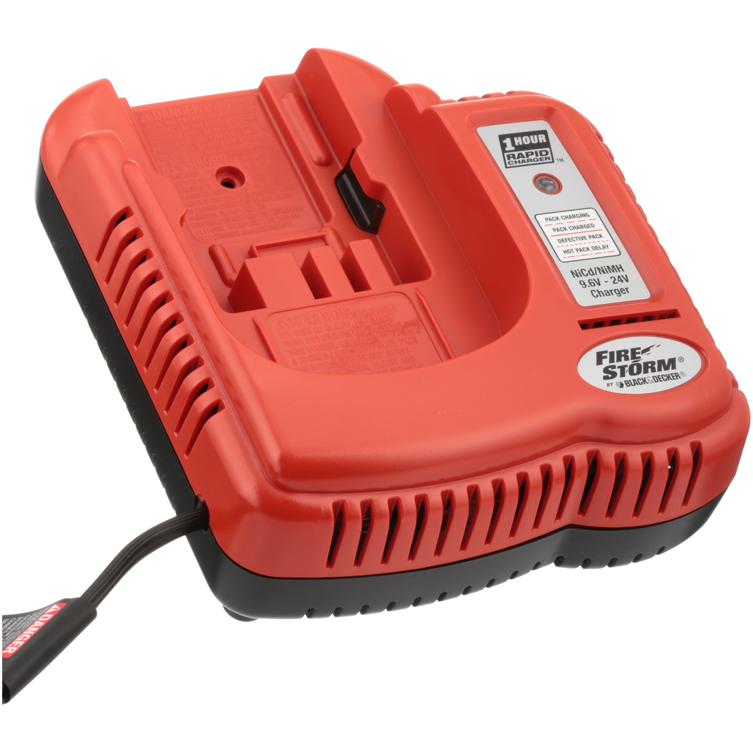 BLACK+DECKER 9.6-24V NiCad Charger, Orange