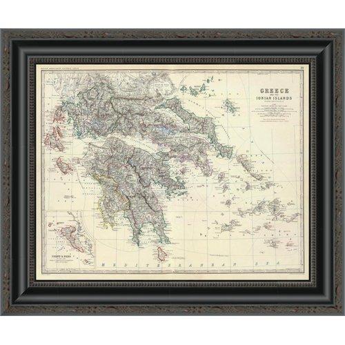 East Urban Home 'Greece; 1861' Framed Print