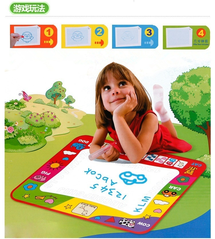 Aquadoodle Kids Doodle Mat Travel Water Aquadraw Painting Writing Board with Pen