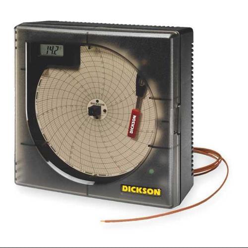 7.56 Temperature Circular Chart Recorder, Dickson, KT6P5