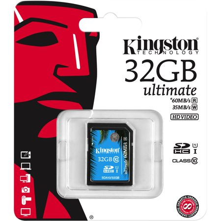 Kingston 32GB SDHC Class 10 UHS-I Ultimate Flash Card