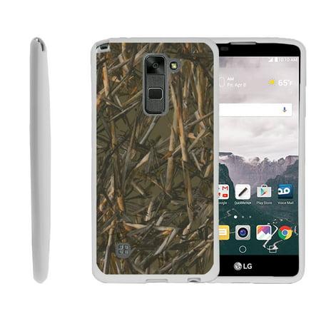LG G Stylus, LG G Stylo LS775, Flexible Case [FLEX FORCE] Slim Durable TPU Sleek Bumper with Unique Designs - Dry Wood Camouflage