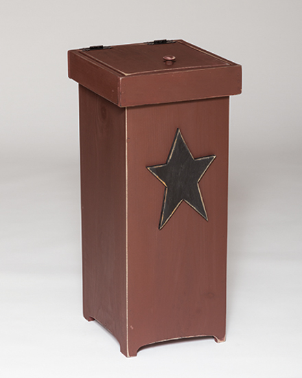 trash can furniture furniture barn usa primitive pine trash can with red rustic star