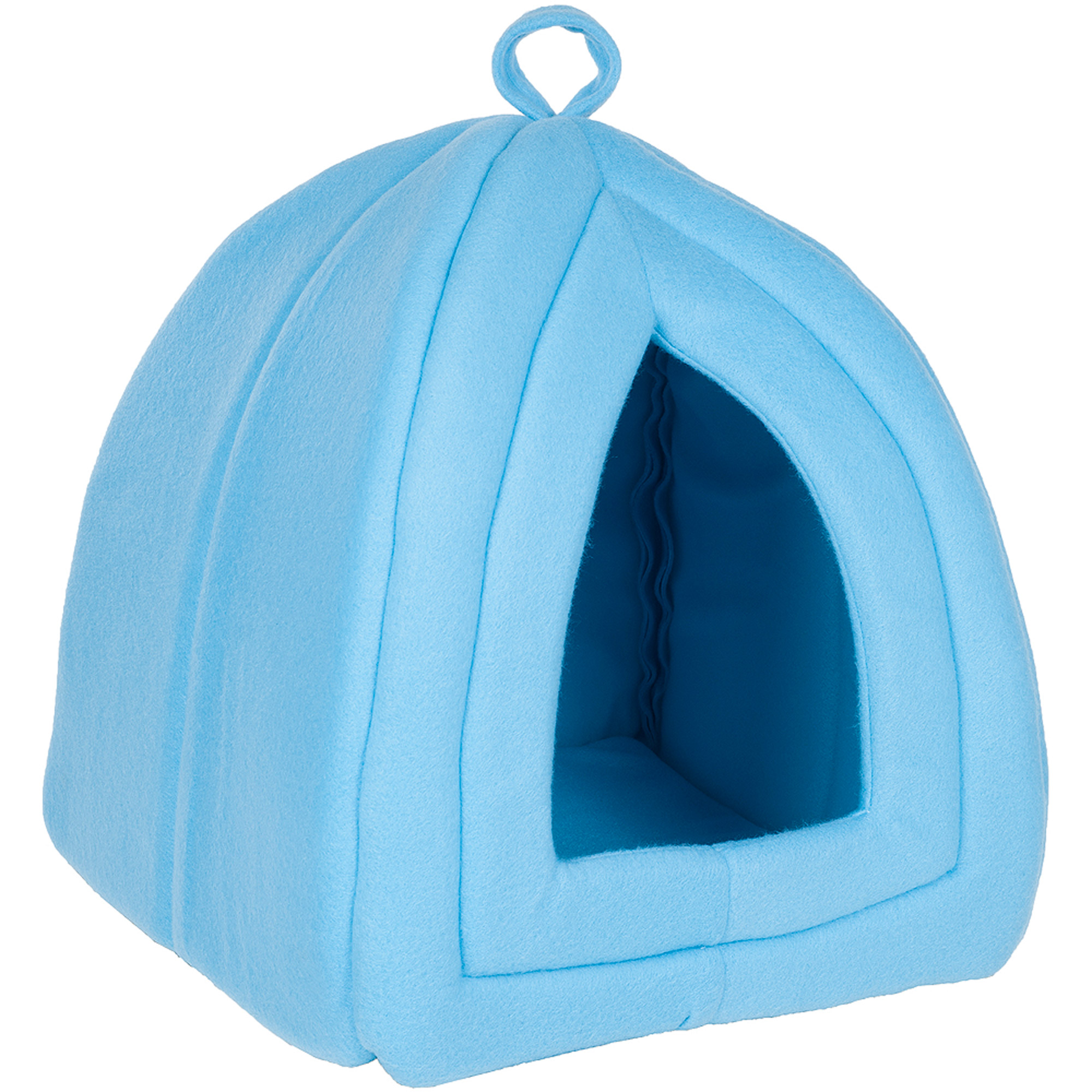 sc 1 st  Walmart & PETMAKER Cozy Kitty Tent Igloo Plush Enclosed Cat Bed - Walmart.com