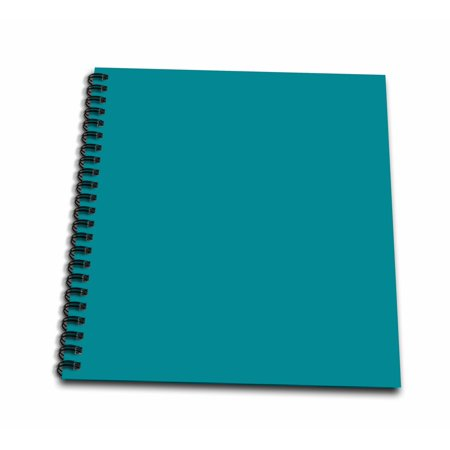 3dRose Plain teal blue - simple modern contemporary solid one single color  - turquoise blue-green - Mini Notepad, 4 by 4-inch