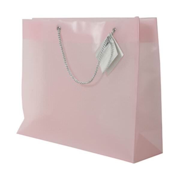 JAM Opaque Shopping Bag - Large - 13 x 10 1/2 x 4 - Light...