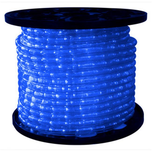 Queens of Christmas C-ROPE-LED-BL-1-10 150 ft.  Spool 10mm Blue LED Rope Light with 1 inch Spacing, 36 inch Cut Length