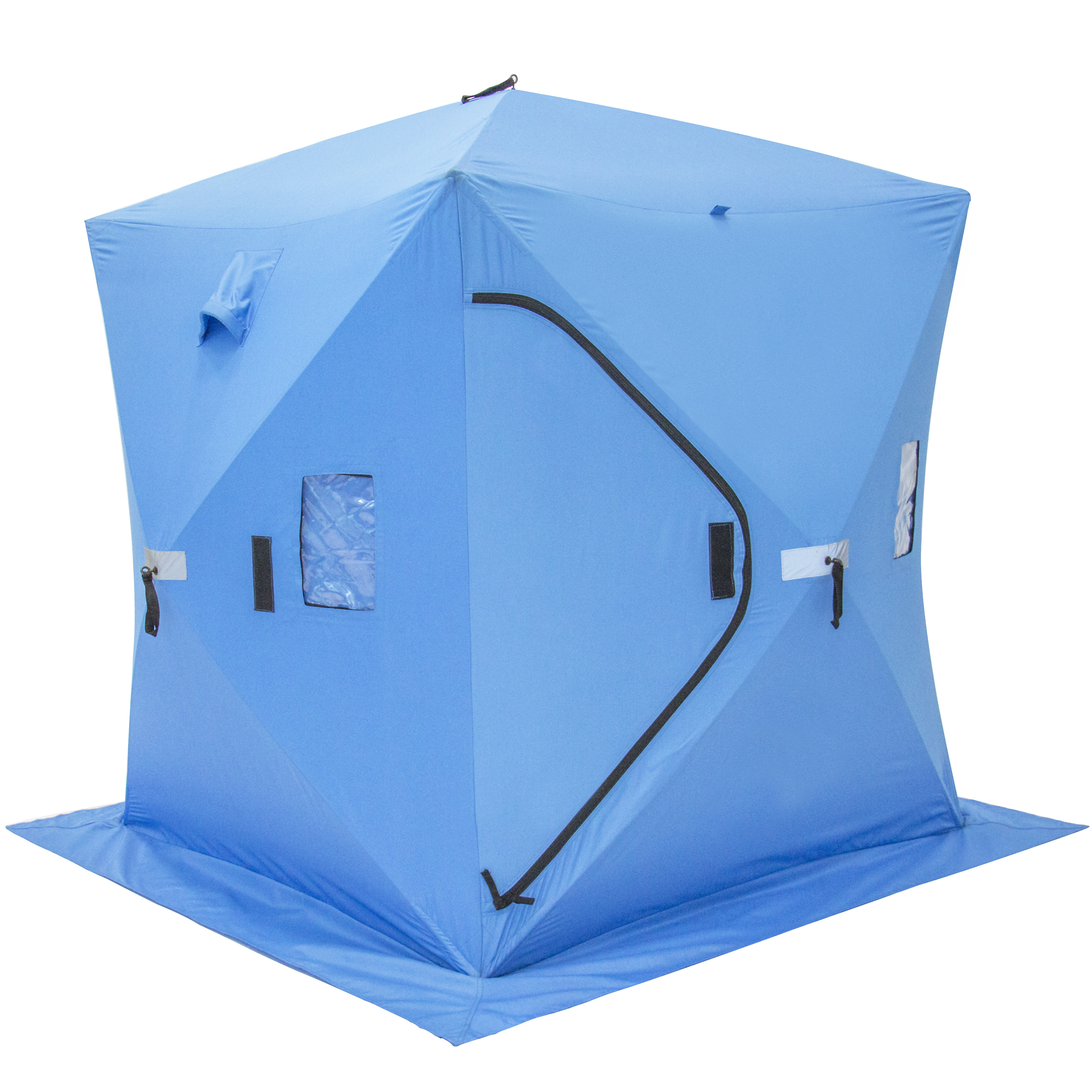 Ice Fishing Shelfter Tent Portable Pop Up Ice Fishing House Blue Waterproof by Best Choice Products