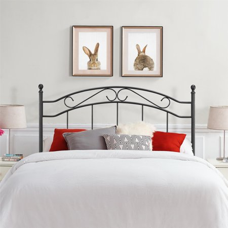 Mainstays Full/Queen Metal Headboard, Multiple Colors Bronze Queen Size Footboard