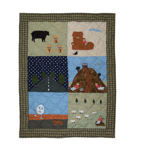 Patch Magic Rhyme Tyme Cotton Crib Quilt